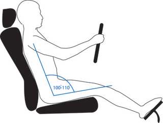 Angle the back of your seat in relation to the seating surface. Your shoulders should no longer be in line with your hips but solidly behind them.