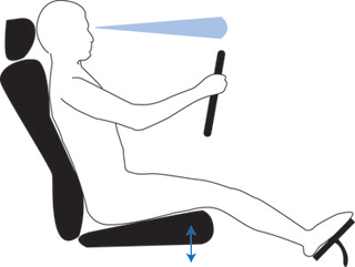 proper seat height in a car